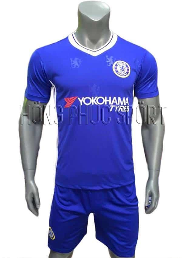 Bộ quần áo Chelsea 2016 2017 sân nhà mầu xanh