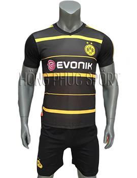 Mẫu quần áo Dortmund 2016 2017 sân khách đen sọc vàngMẫu quần áo Dortmund 2016 2017 sân khách đen sọc vàng