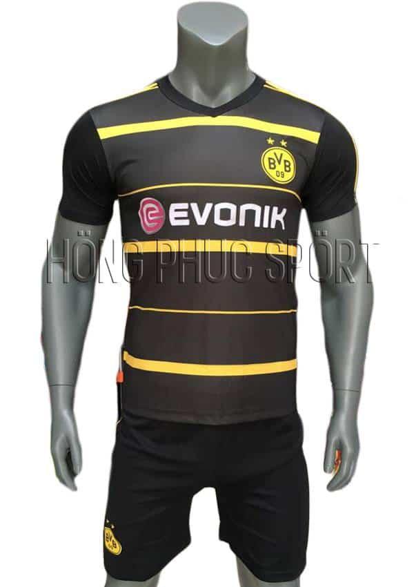 Bộ quần áo Dortmund 2016 2017 sân khách đen sọc vàng