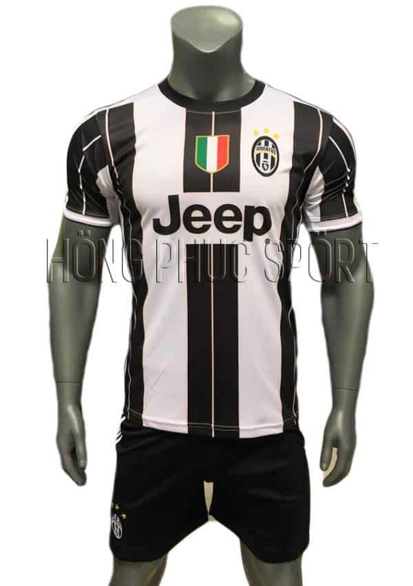 Bộ quần áo đấu Juventus 2016 2017 sân nhà sọc đen trắng