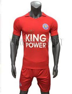 Mẫu áo đấu Leicester City 2016 2017 sân khách mầu đỏ