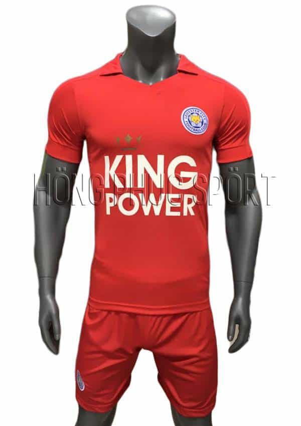Bộ quần áo đấu Leicester City 2016 2017 sân khách mầu đỏ
