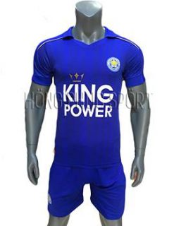 Mẫu áo đấu Leicester City 2016 2017 sân nhà mầu xanh