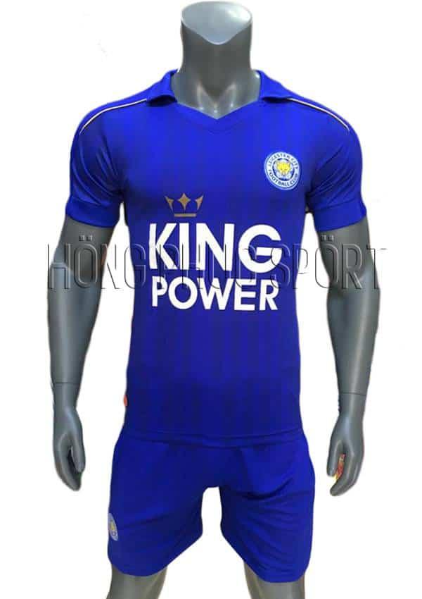 Bộ quần áo đấu Leicester City 2016 2017 sân nhà mầu xanh