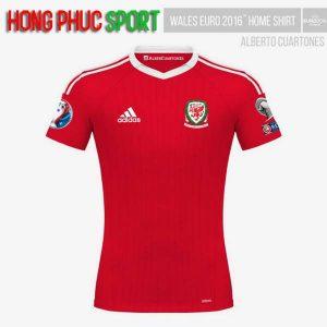 Mẫu áo đấu tuyển Xứ Wales Euro 2016 2017 sân nhà mầu đỏ