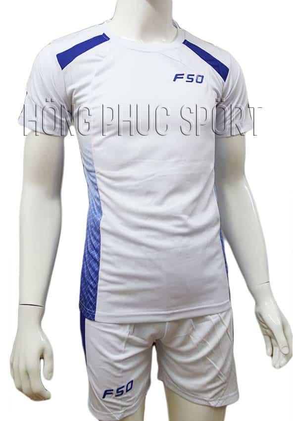 Bộ quần áo F50 mầu trắng không logo 2016 2017