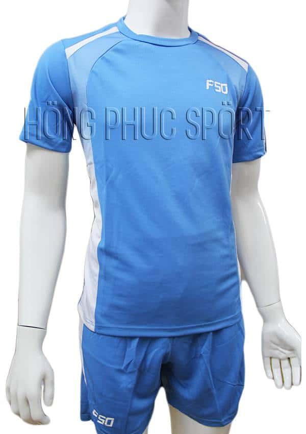 Bộ quần áo F50 xanh nước biển không logo 2016 2017