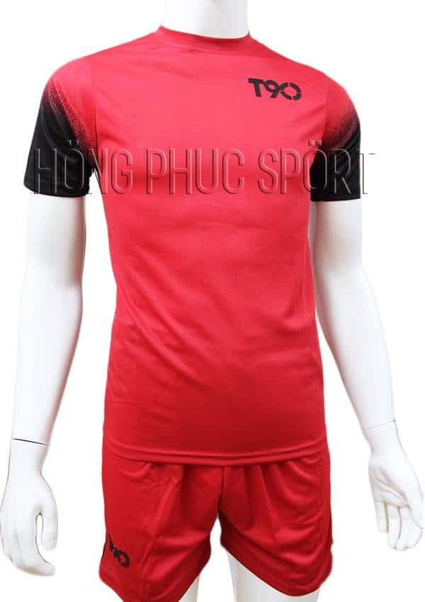 Bộ quần áo T90 mầu đỏ không logo 2016 2017