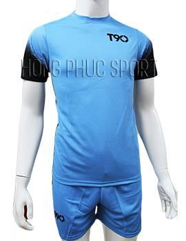 Mẫu áo T90 xanh nước biển không logo 2016 2017