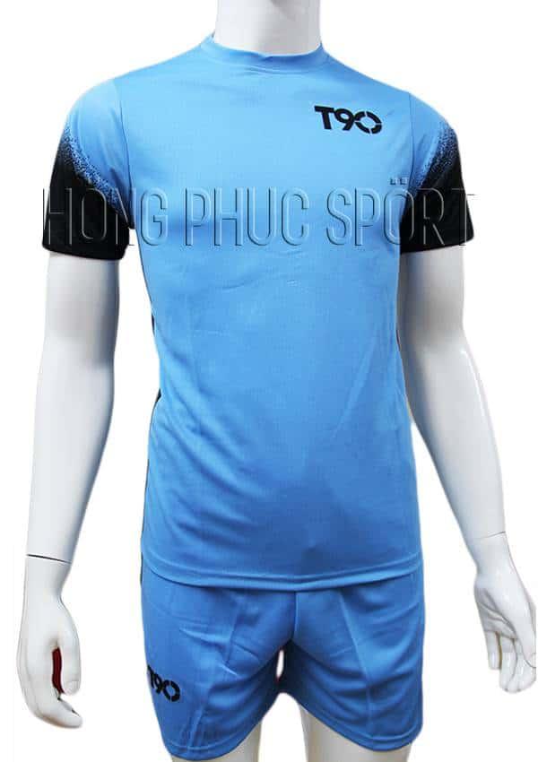 Bộ quần áo T90 xanh nước biển không logo 2016 2017