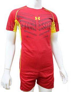 Mẫu áo Under Armour mầu đỏ không logo 2016 2017