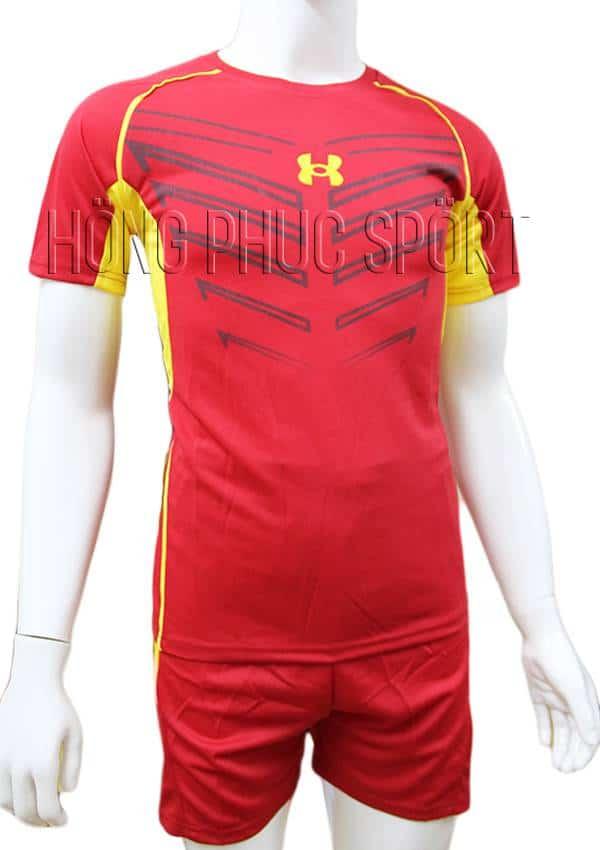 Bộ quần áo Under Armour mầu đỏ không logo 2016 2017