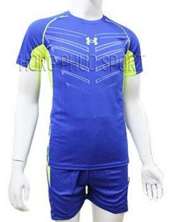 Mẫu áo Under Armour xanh bích không logo 2016 2017
