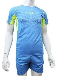 Mẫu áo Under Armour xanh nước biển không logo 2016 2017