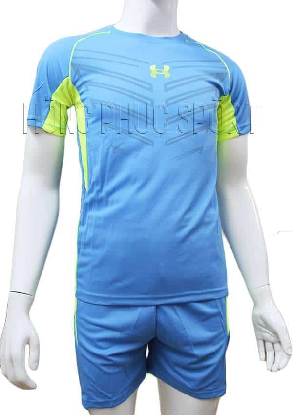 Bộ quần áo Under Armour xanh nước biển không logo 2016 2017