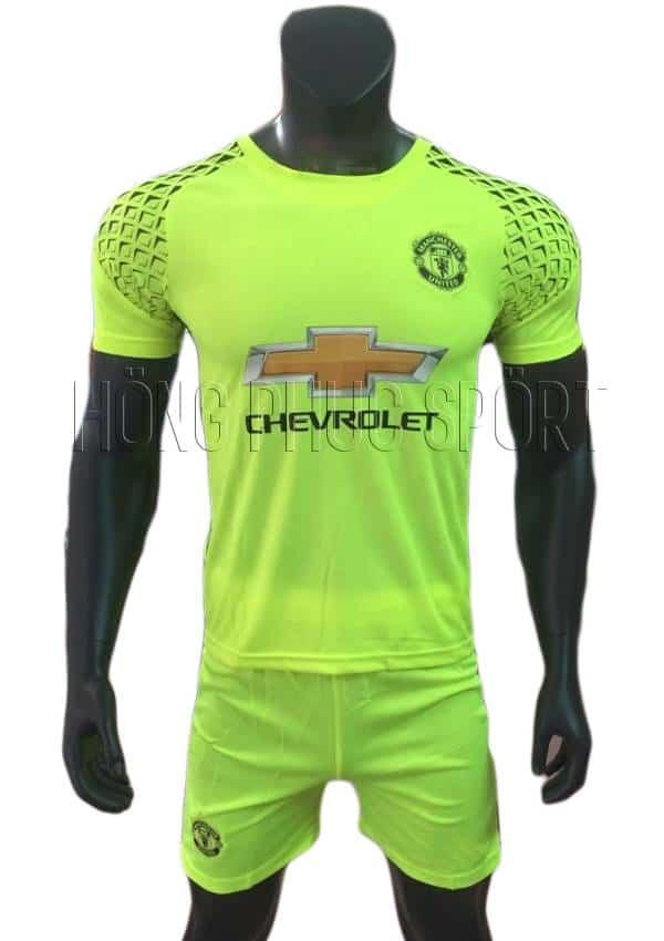 Bộ quần áo thủ môn MU 2016 2017 xanh chuối