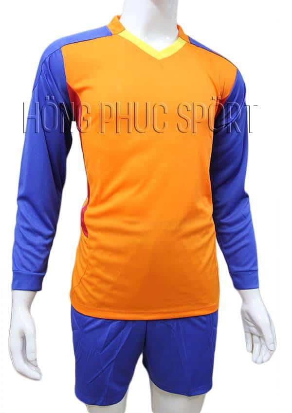 Bộ quần áo thủ môn 2016 2017 cam phối xanh bích
