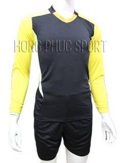 Mẫu quần áo thủ môn 2016 2017 đen phối vàng