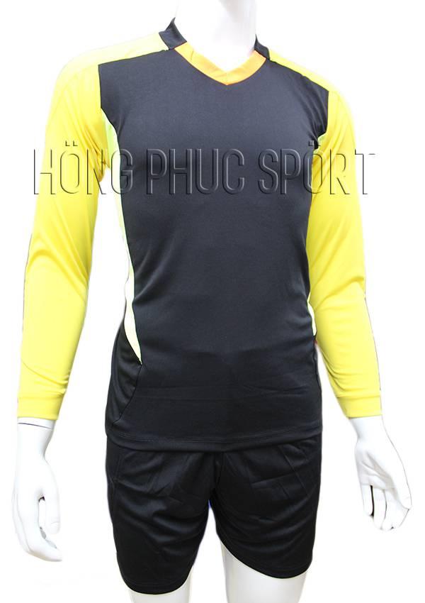 Bộ quần áo thủ môn 2016 2017 đen phối vàng