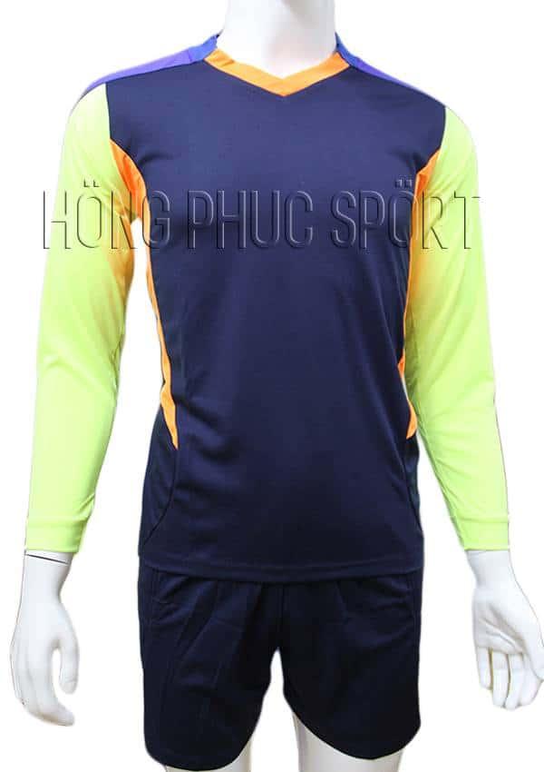 Bộ quần áo thủ môn 2016 2017 tím than phối xanh chuối