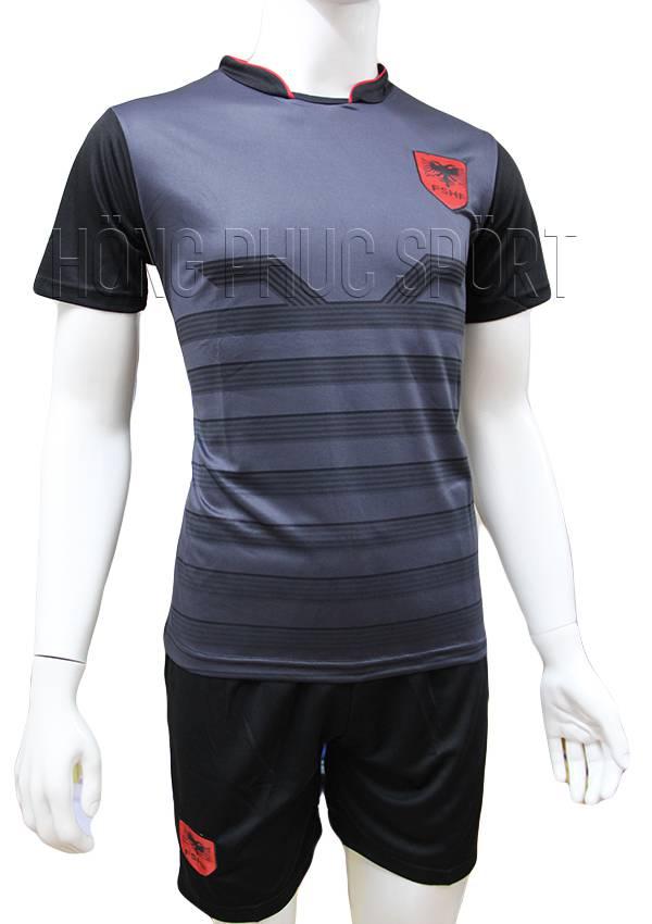 Bộ quần áo tuyển Albania Euro 2016 2017 sân khách màu xám đen