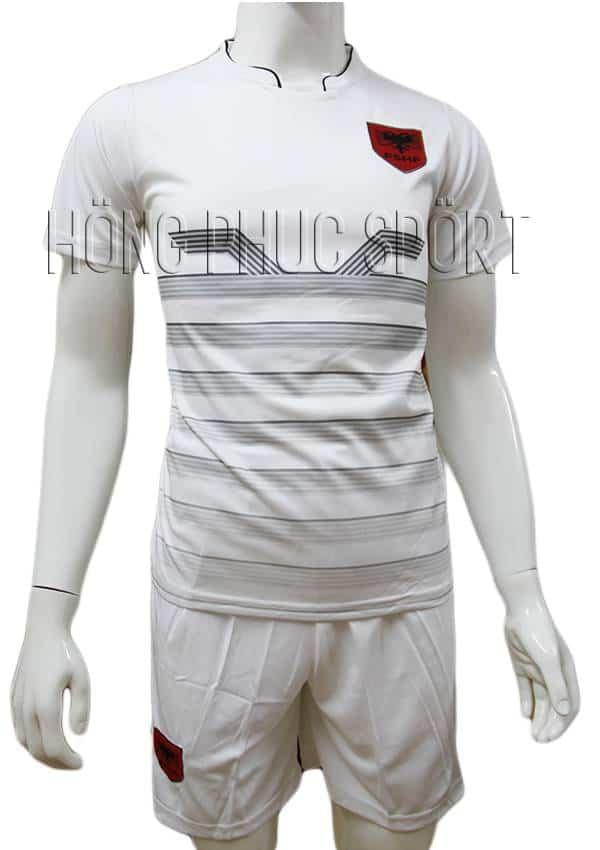 Bộ quần áo tuyển Albania Euro 2016 2017 sân nhà màu trắng