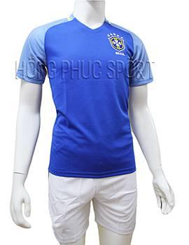 Mẫu áo tuyển Brazil Copa America 2016 2017 sân khách mầu xanh