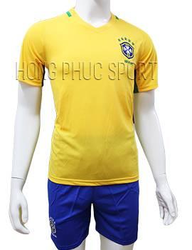 Mẫu áo tuyển Brazil Copa America 2016 2017 sân nhà