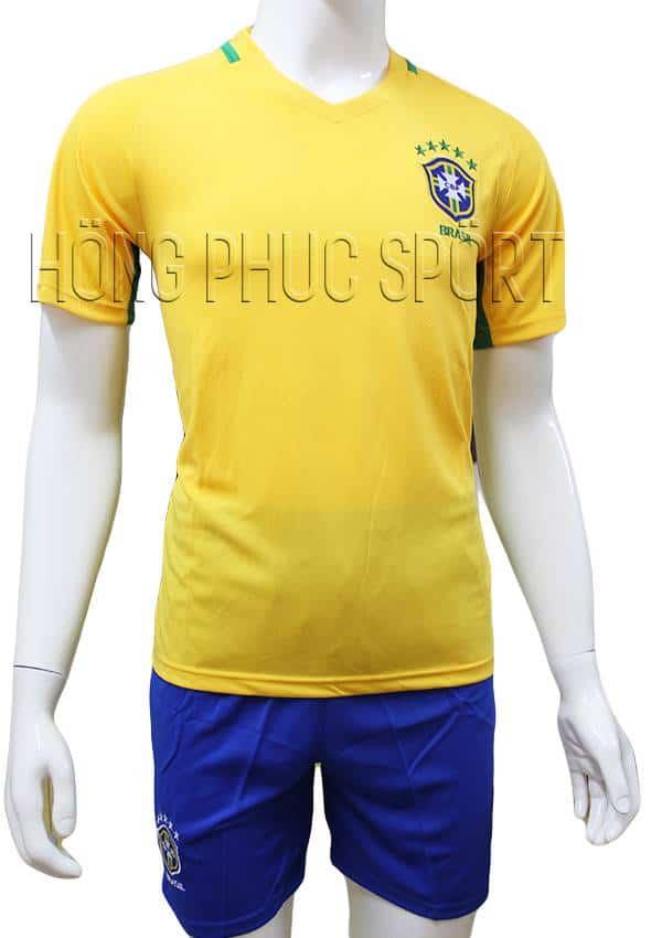 Bộ quần áo tuyển Brazil Copa America 2016 2017 sân nhà mầu vàng