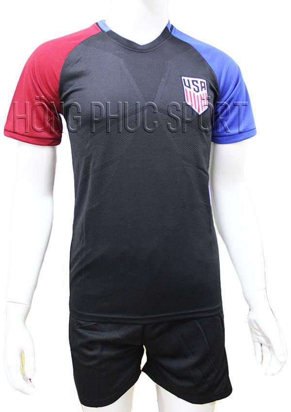 Bộ quần áo tuyển Mỹ Copa America 2016 2017 sân khách màu đen