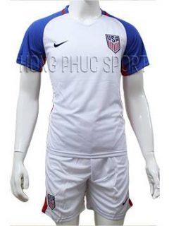 Mẫu áo tuyển Mỹ Copa America 2016 2017 sân nhà màu trắng