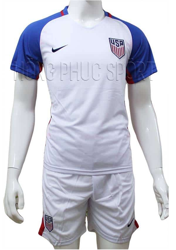 Bộ quần áo tuyển Mỹ Copa America 2016 2017 sân nhà màu trắng