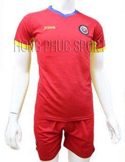 Mẫu áo đấu tuyển Romania Euro 2016 2017 sân khách màu đỏ