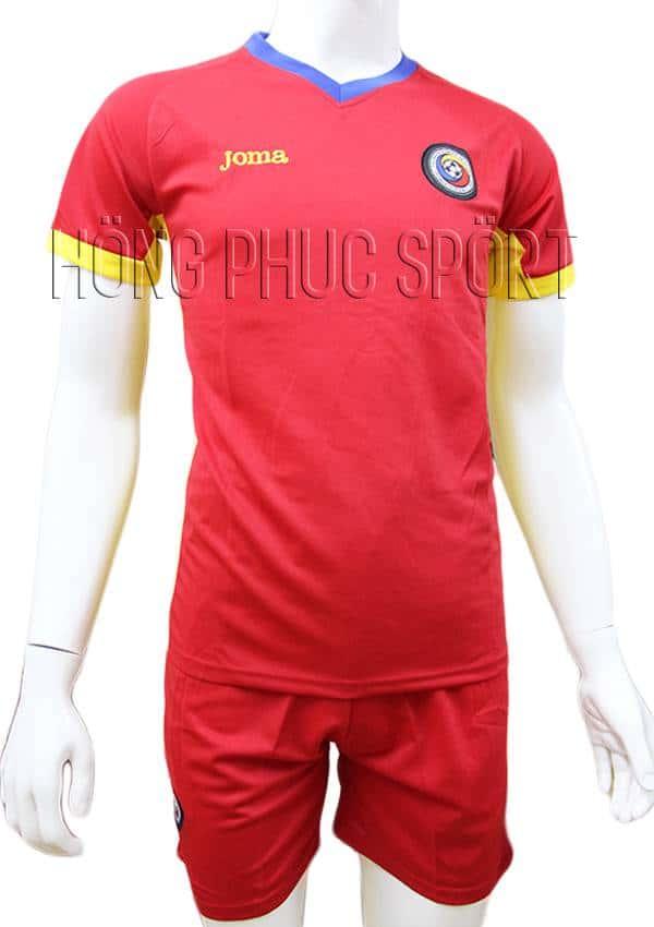 Bộ quần áo đấu tuyển Romania Euro 2016 2017 sân khách màu đỏ