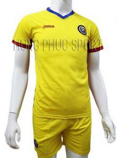 Mẫu áo đấu tuyển Romania Euro 2016 2017 sân nhà màu vàng