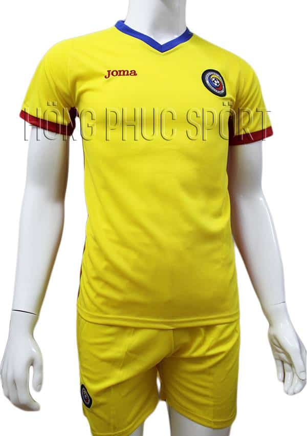 Bộ quần áo đấu tuyển Romania Euro 2016 2017 sân nhà màu vàng