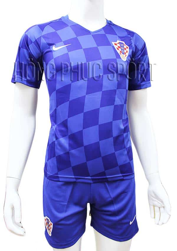 Bộ quần áo đấu đội tuyển Croatia Euro 2016 2017 sân khách màu xanh
