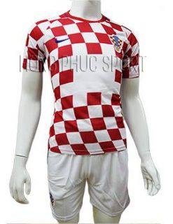 Mẫu áo đấu đội tuyển Croatia Euro 2016 2017 sân nhà màu đỏ phối trắng
