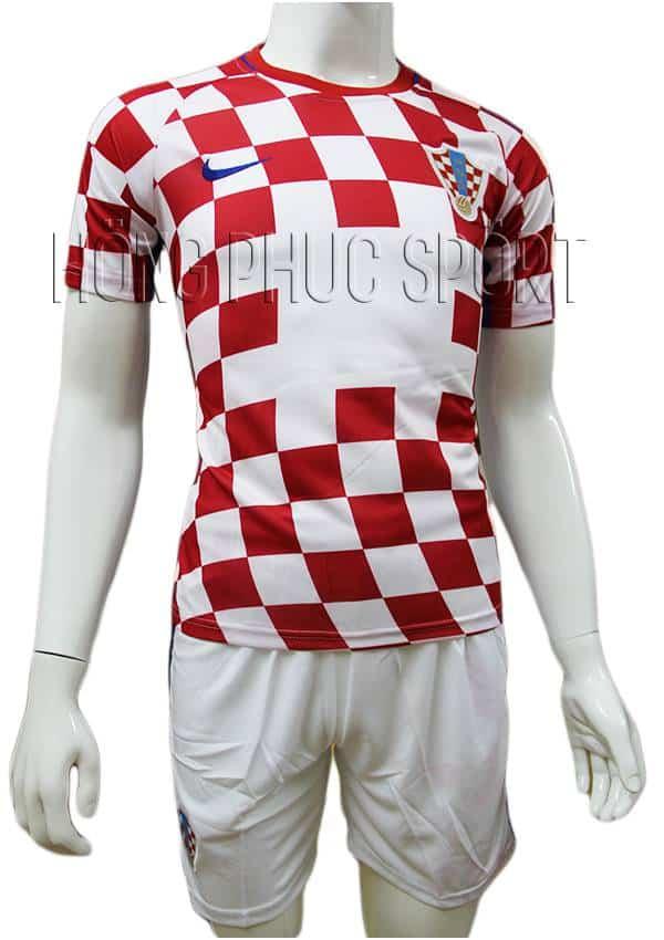 Bộ quần áo đấu đội tuyển Croatia Euro 2016 2017 sân nhà màu đỏ phối trắng