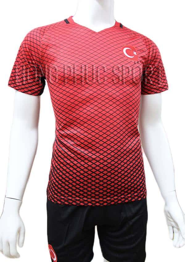 Bộ quần áo tuyển Thổ Nhĩ Kỳ Euro 2016 2017 sân nhà màu đỏ