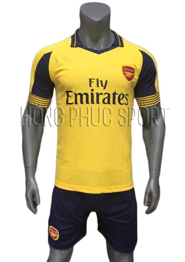 Bộ quần áo Arsenal 2016 2017 sân khách mầu vàng