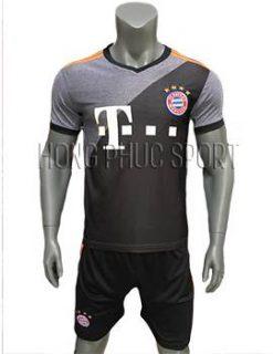Mẫu áo Bayern Munich 2016 2017 sân khách mầu xám