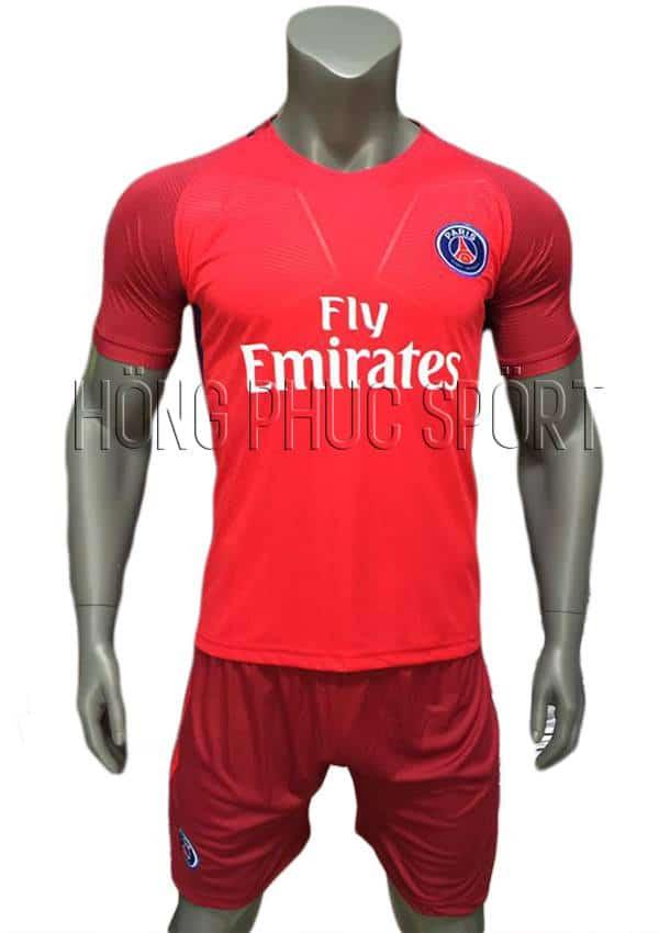 Bộ quần áo đấu PSG 2016 2017 sân khách mầu đỏ