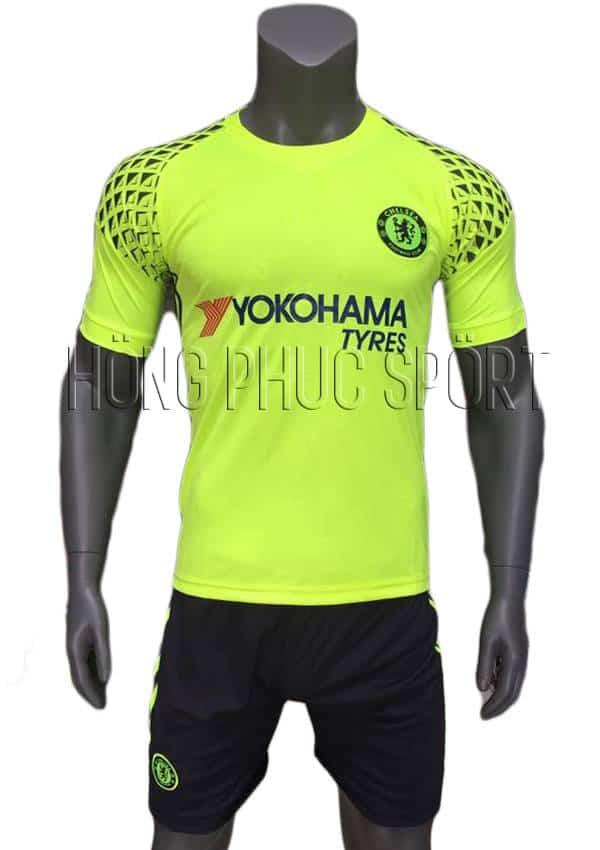 Bộ quần áo thủ môn Chelsea 2016 2017 xanh chuối