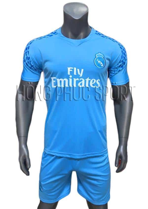 Bộ quần áo thủ môn Real 2016 2017 xanh biển