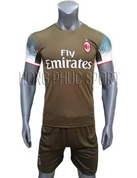Mẫu áo AC Milan 2016 2017 sân khách xanh rêu mẫu thứ 3