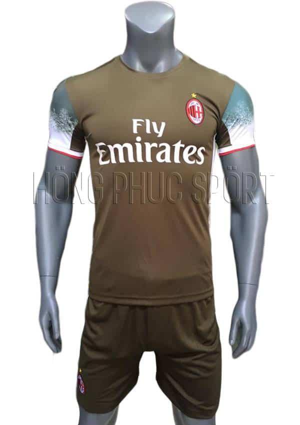 Bộ quần áo AC Milan 2016 2017 sân khách xanh rêu mẫu thứ 3