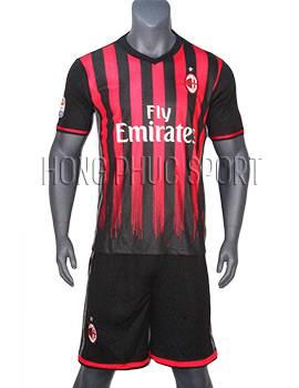 Mẫu bộ quần áo AC Milan 2016 2017 sân nhà hàng Thái Lan Super Fake