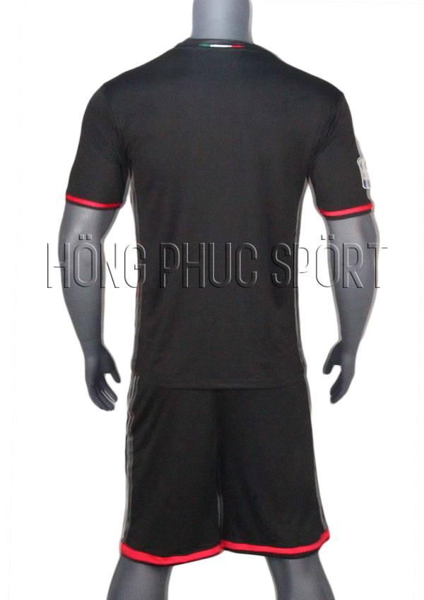 Bộ quần áo AC Milan 2016 2017 sân nhà hàng Thái Lan Super Fake - Mặt sau