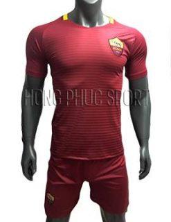 Mẫu áo AS Roma 2016 2017 sân nhà đỏ bã trầu